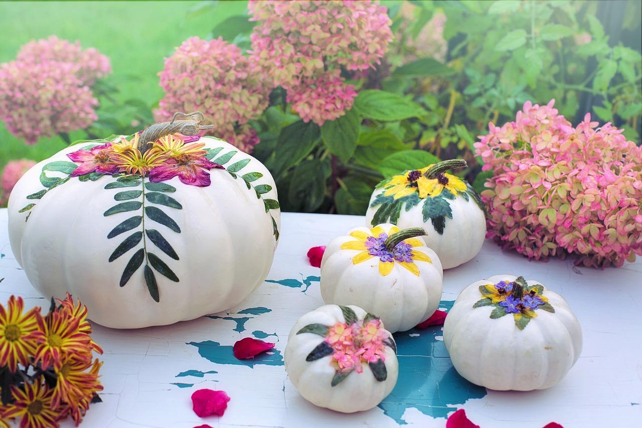 Dekoracje z dyni na stół. Warzywny stół – Dekoracje z warzyw i owoców na stół